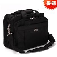 新款加厚大容量男士商务旅行包公文包出差包电脑包单肩斜挎手提包