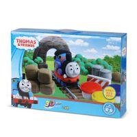 智高3D彩泥 24色主题模具套装 无毒橡皮泥 儿童DIY创意玩具 托马斯-24色彩泥