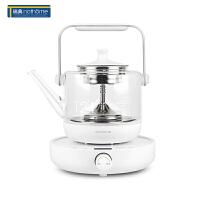 北欧欧慕NZC086煮茶器黑茶普洱玻璃电热水壶蒸茶壶 保温蒸汽电煮茶壶