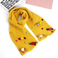 保暖女宝宝毛线围巾韩版户外运动儿童糖果色针织长围巾男女童加厚围脖