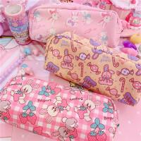 日式卡哇伊兔兔草莓独角兽笔袋收纳盒中小学生大容量笔袋文具盒袋