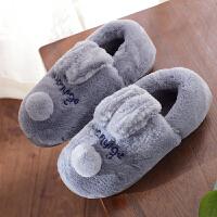 男士棉拖鞋冬季大码包跟毛绒家居室内防滑居家毛拖鞋保暖厚底冬天