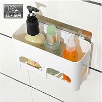 双庆吸盘置物架卫生间厨房置物架收纳壁挂浴室塑料置物架沥水5049