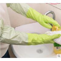 手套室内多功能家居用品耐用加绒洗碗手套家务清洁手套加长加厚防水厨房保暖洗衣手套