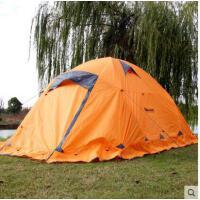 折叠帐篷野外沙滩帐篷三人双层雪地帐篷四季帐篷户外野营露营高山带雪裙