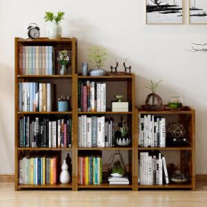 书柜 简约现代多功能学生简易书架落地木质大容量储物省空间置物架多层多款可组合储物柜