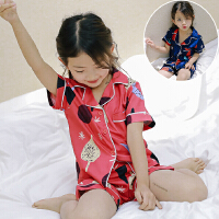 **儿童装女童短袖睡衣两件套装薄款居家服2018夏装新