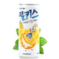 韩国进口 lotte乐天芒果味苏打碳酸饮料250ml 汽水妙之吻乳味饮品