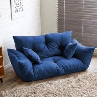 懒人沙发小户型客厅卧室布艺双人榻榻米可折叠沙发床可拆洗
