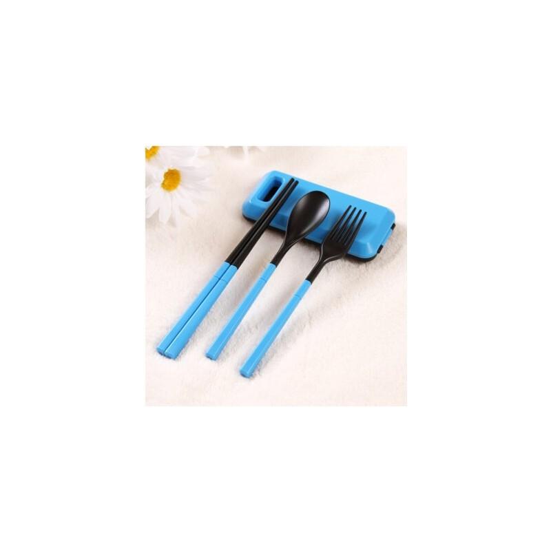 户外三件套 烧烤野餐叉勺筷旅行套装 便携式时尚韩式餐具 品质保证 售后无忧