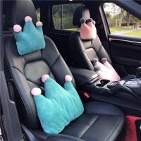 毛绒可爱汽车头枕靠枕四季卡通腰靠座椅护颈枕头车载靠枕内饰用品