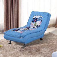 懒人沙发单人可拆洗折叠卧室客厅午休贵妃躺椅美容院多功能沙发床 天蓝色 中间花