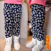 儿童加绒加厚棉裤子女童保暖长裤宝宝休闲裤2018春冬新款C820