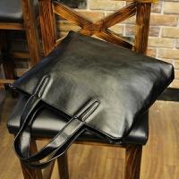 新款牛皮男包横款商务手提包男男士公文包软皮单肩包包潮牌包 全场满2件送手包