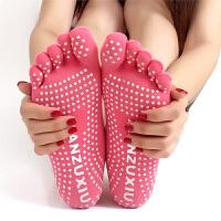 健身瑜伽袜子防滑女士棉袜五指袜运动袜透气吸汗春夏款