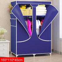 简易衣柜钢架布衣柜衣橱叠组装衣柜布衣柜现代简约经济型省空间 单门