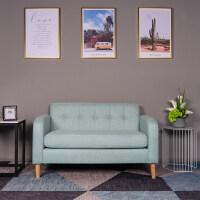 北欧沙发小户型单双二三人位服装店桌椅组合现代出租房卧室小沙发 天