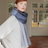 经典英伦山羊绒格子围巾女冬天 时尚长款披肩两用秋冬季