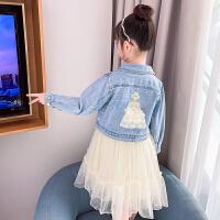 女童连衣裙春装儿童两件套装裙子女孩公主裙春秋网纱
