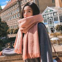 纯色围巾女日系小清新披肩女韩版针织围脖女