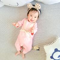 婴儿连体衣服0岁3月5宝宝0新生儿冬季加厚冬装保暖内衣睡衣