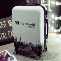 旅行箱女拉杆箱万向轮男学生行李箱20寸24寸密码箱登机皮箱子箱包
