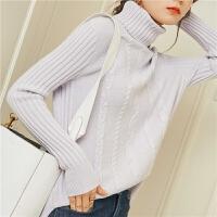 秋冬新款高翻领羊绒衫女短款山羊绒毛衣女休闲打底衫
