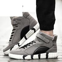 高帮板鞋男青少年男士休闲运动鞋韩版情侣潮街舞跑步鞋秋季