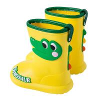儿童雨鞋男童宝宝卡通可爱恐龙幼儿园水鞋小孩雨靴女