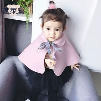 冬斗篷披风6个月冬婴儿外出服宝宝披风披肩连帽季春装新年