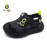 【1件8折价:59元】芭芭鸭儿童凉鞋包头沙滩鞋透气男童鞋2020夏季新款小童学生鞋子潮