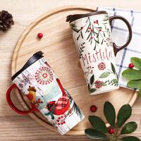 Evergreen爱屋格林马克杯水杯可爱陶瓷杯礼盒装咖啡杯大容量杯子单手推盖同款彩盒包装