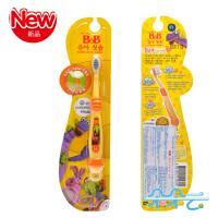 韩国保宁B&B婴幼儿用品 婴儿乳牙刷 一阶段训练牙刷 2-4岁使用