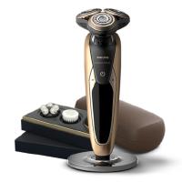 飞利浦电动剃须刀SP9811充电式旋转式干湿双剃 带多功能理容配件 支持礼品卡