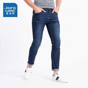 [尾品汇价:96.9元,20日10点-25日10点]真维斯男装 夏装  时尚修身商务牛仔裤