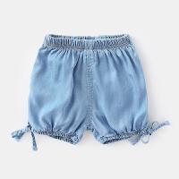 女����牛仔短�夏�和�薄款外穿�夏�女童五分�夏�b�子2018新款 �\�{色 �A售90�a11�左右