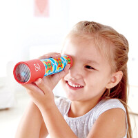 Hape复古万花筒3-6岁儿童复古神奇纸质多棱镜万花筒科学探索早教益智玩具婴幼玩具木制