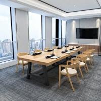 美式实木办公桌简约现代电脑桌工作台洽谈桌椅组合会议桌定制