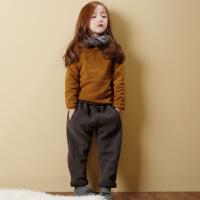 女童加绒套装2017新款冬中大童卫衣裤子两件套儿童加厚休闲二件套