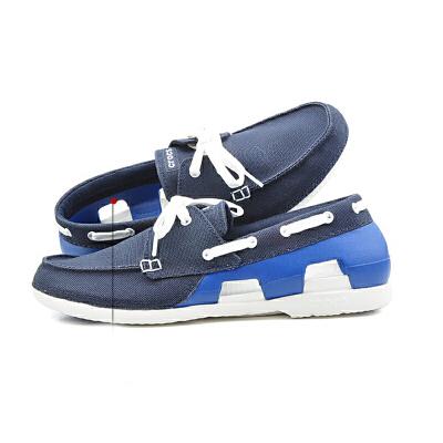【2双3折】Crocs卡骆驰 男式 耐磨时尚休闲舒适海滩帆船帆布鞋|200247 男士海滩帆船帆布鞋 crocs双十一大促