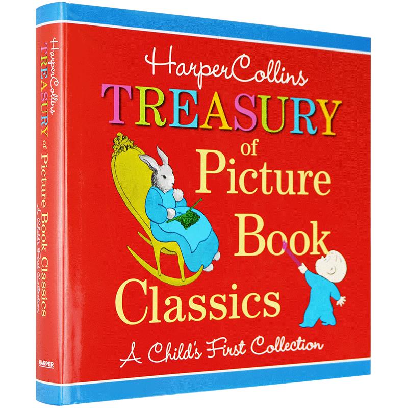 英文原版Treasury of Picture Book Classics 柯林斯经典英文绘本合集 晚安月亮等12个故事 华研原版 廖彩杏 汪培珽推荐 英语启蒙 亲子阅读 大本精装