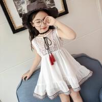连衣裙夏装袖夏季中大童公主裙女孩裙子
