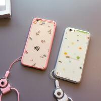 冰激凌iphone6s手机壳挂绳硅胶4.7个性苹果6plus保护套男女新