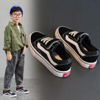 儿童帆布鞋春秋款男童鞋子网鞋夏季女童板鞋网面透气鞋