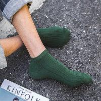 袜子男短袜低帮 防臭吸汗纯棉船袜男士运动袜四季纯色日系袜