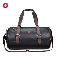 瑞士军刀 时尚轻便圆桶形旅行袋 大容量斜挎包背包SA9812
