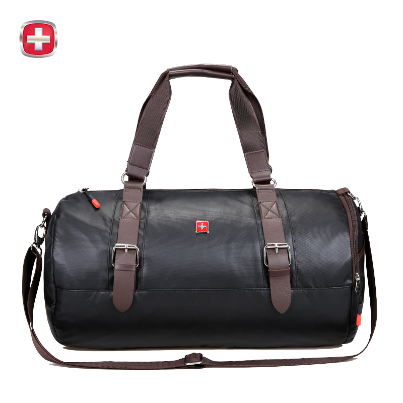 瑞士军刀 时尚轻便圆桶形旅行袋 大容量斜挎包背包SA9812礼品卡支付