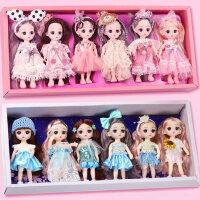 小号迷你乖乖芭比洋娃娃玩具套装女孩公主儿童大礼盒精致仿真可爱