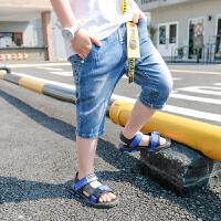 童装男童牛仔裤夏装潮儿童夏季短裤休闲七分裤