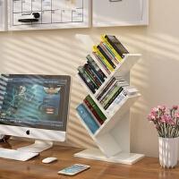 单层教师小孩多功能桌上简易书架树形书架精美书柜书桌可移动